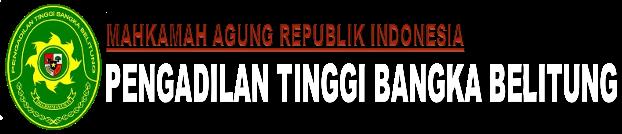 PENGADILAN TINGGI BANGKA BELITUNG