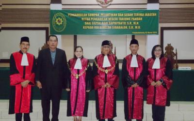 Pengambilan Sumpah, Pelantikan dan Sertijab KPN Tanjungpandan