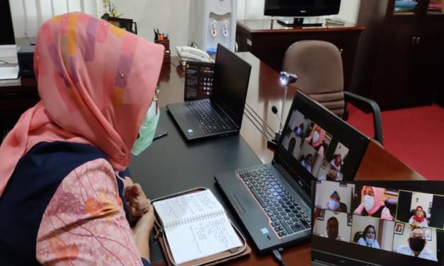 Pembinaan dengan Ketua PN sewilayah Babel melalui video meeting