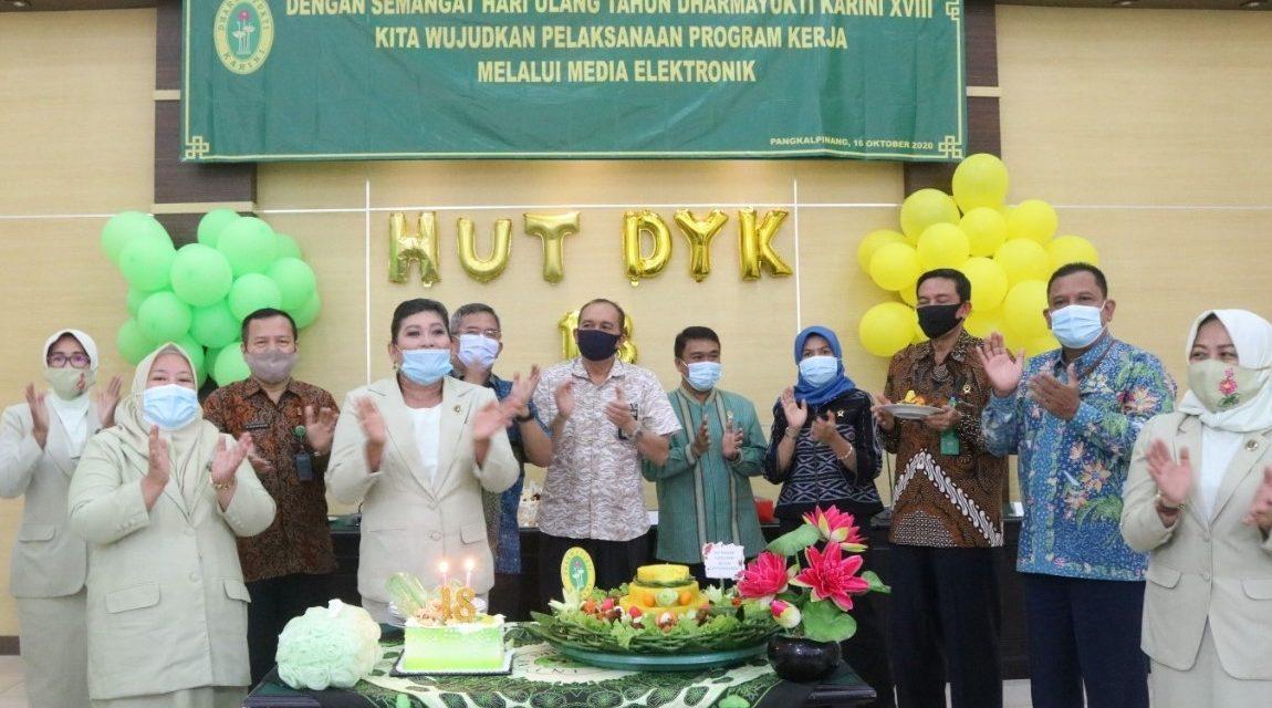 DHARMAYUKTI KARINI (DYK) PROVINSI BANGKA BELITUNG MEMPERINGATI HUT DYK KE-18 DI PANGKALPINANG