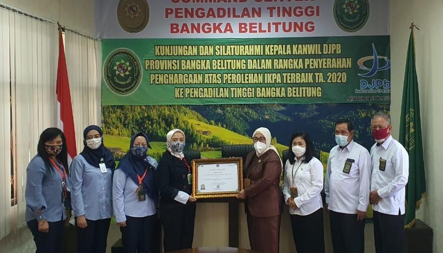 Penghargaan Nilai Indikator Kinerja Pelaksanaan Anggaran (IKPA) Terbaik Tahun 2020